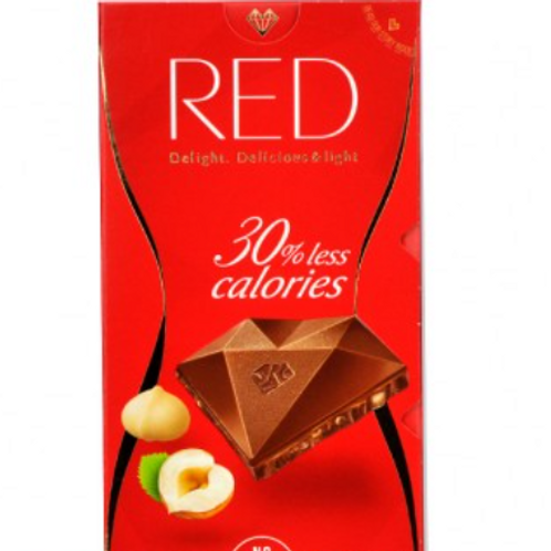 RED Delight HAZELNUT AND MACADAMIA MILK CHOCOLATE