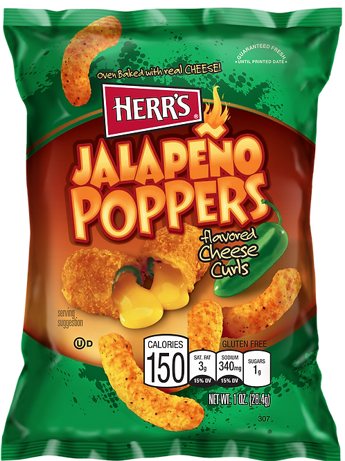 HERR'S JALAPENO POPPERS Cheese 184 g