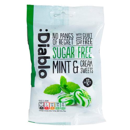 diablo sugar free mints & cream sweets