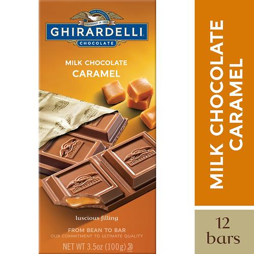 GHIRARDELLI MILK CHOCOLATE CARAMEL 100 g
