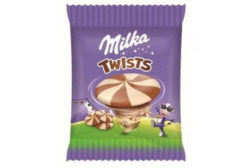 Milka twists biscuit