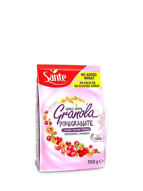 sante whole grain granola pomgranate cranberry