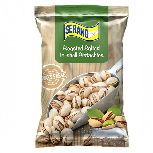 SERANO Roasted Salted In-shell Pistachios 150 g