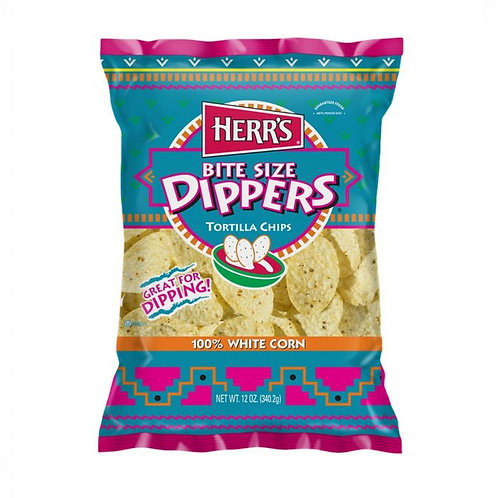 HERR'S DIPPERS TORTILLA CHIPS 340G