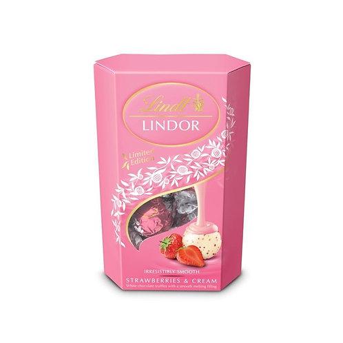 lindt lindor strawberry & cream