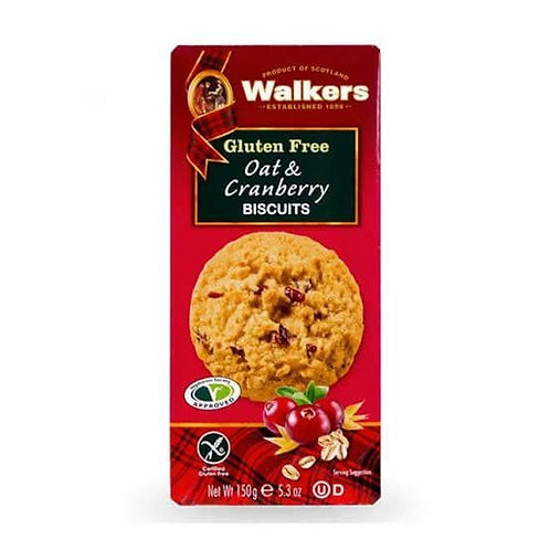 walker gulten free oat &cranberry cookies