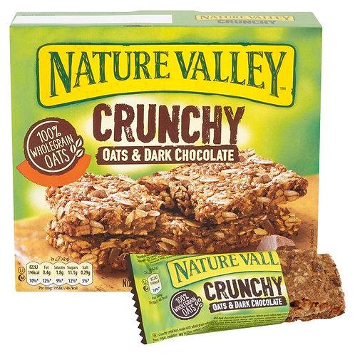 NATURE VALLEY  CRUNCHY  OATS & DARK CHOCOLATE 210