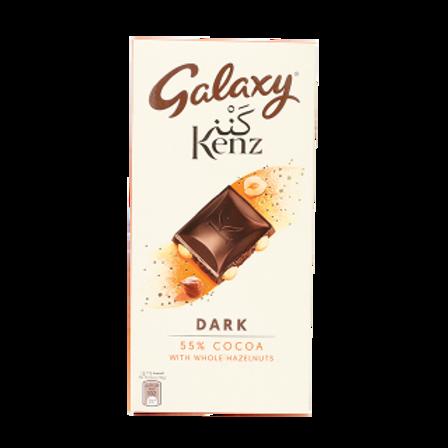 galaxy kenz extra dark 55% cocoa with whole hazelnut