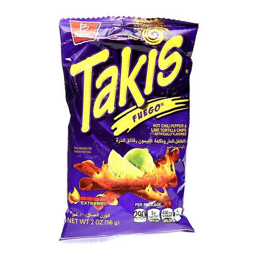 Takis HOT CHLI PEPPER & LIME TORTILLA CHIPS  56 g