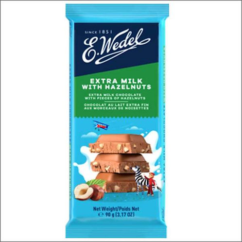 E.Wedel  EXTRA MILK WITH HAZELNUTS  100 g
