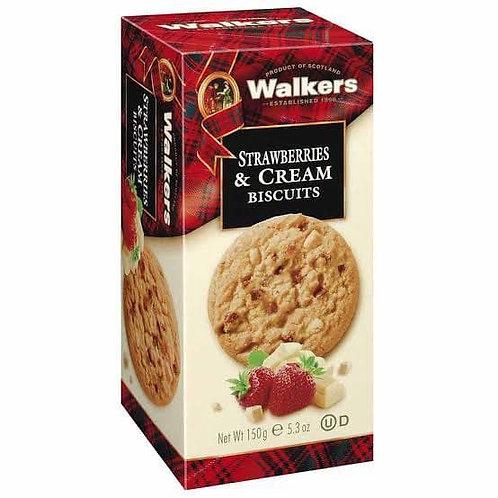 walkers strawberry &cream cookies