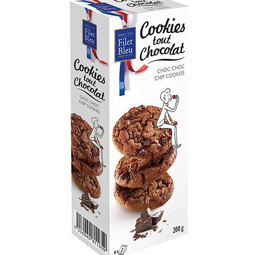filet bleu cookies tout chocolate