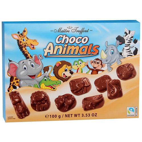 Maitre Truffout Chocolate Animals 100g