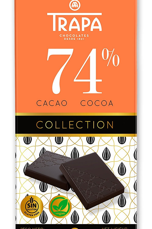 TRAPA 74% CACAO COCOA COLLECTION 90 G