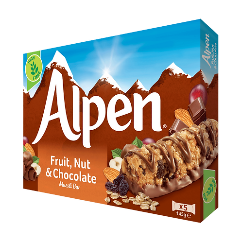 Alpen Fruit Nut & chocolate