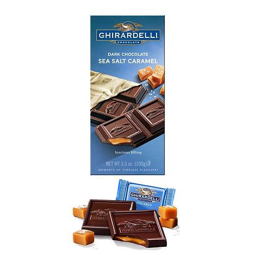 GHIRARDELLI DARK CHOCOLATE SEA SALT CARAMEL  100  G