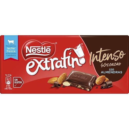 Nestle extrafino Intenso 40% Cacao  Con ALMENDRAS 123 g