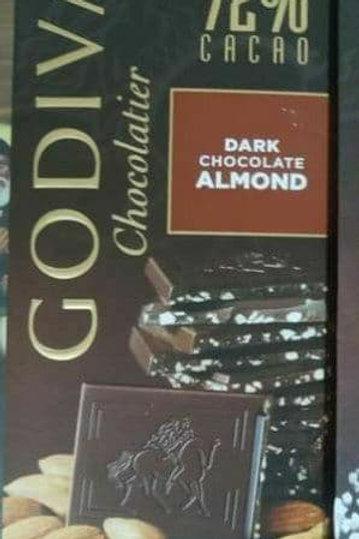 godiva 72% dark chocolate almond