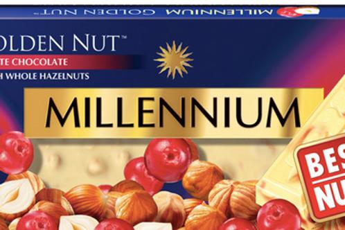 MILLENNIUM WHITE CHOCOLATE  WITH WHOLE HAZELNUT 100g