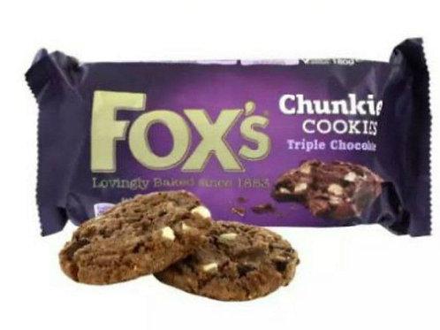 Fox triple chocolate cookies