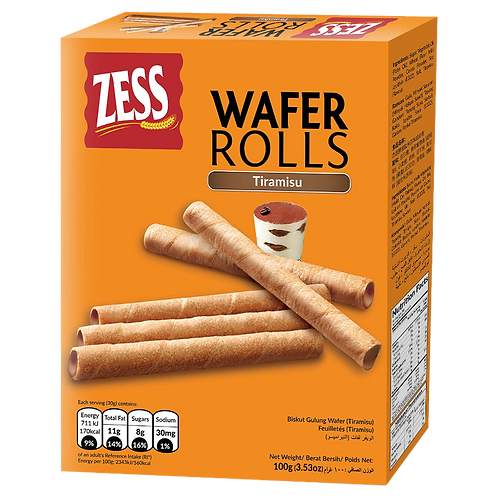 ZESS WAFER ROLLS Tiramisu  100G