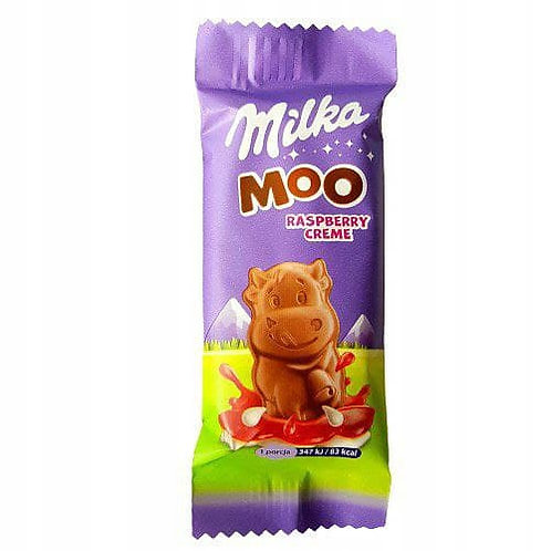 Milka moo raspberry creme chocolate