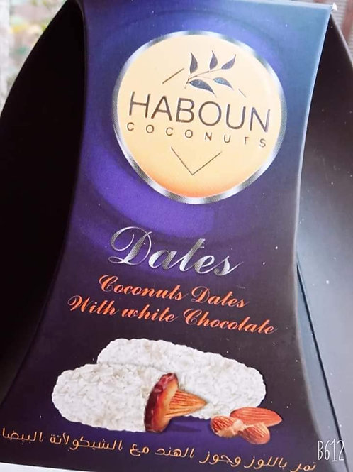 HABOUN  COCONUT Dates With White Chocolate 160 g