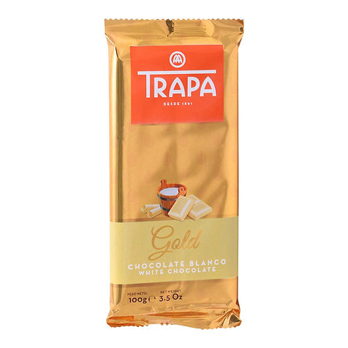 TRAPA Gold WHITE CHOCOLATE  100G