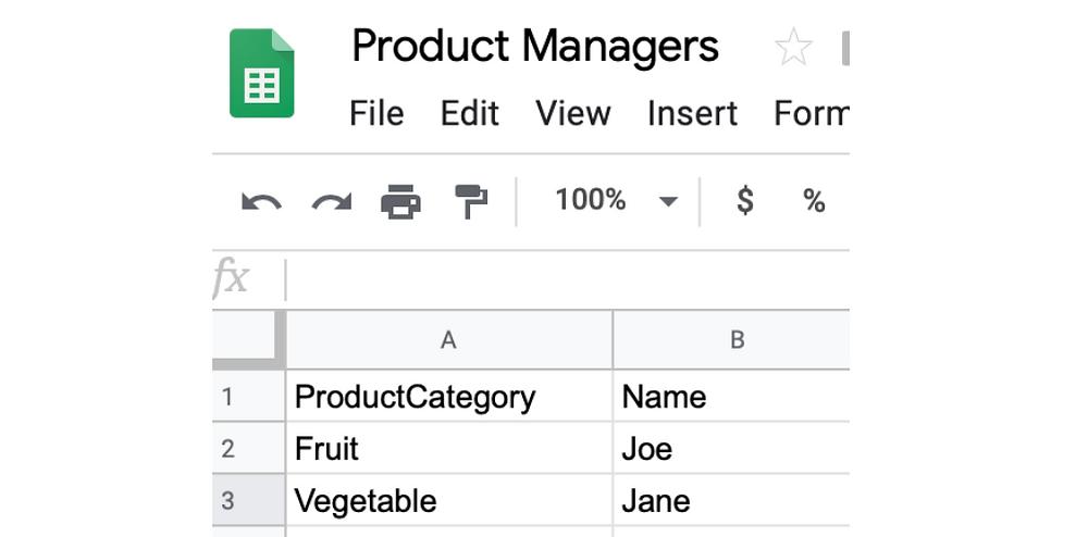 Google Sheet Federated External Datasource