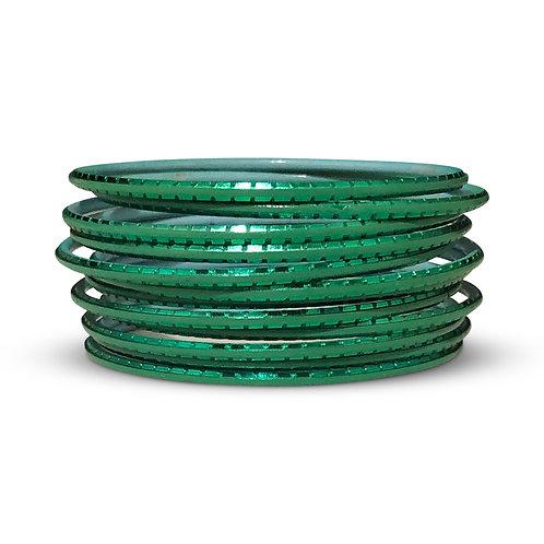 36 Turquoise Indo-Western Bangles