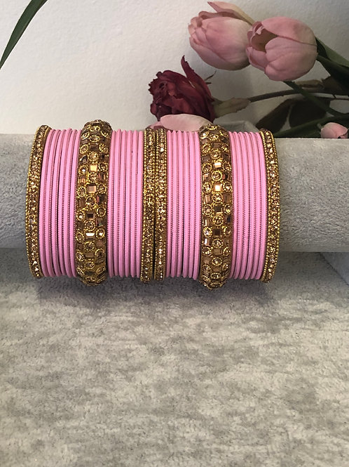 Pink - KASHISH BANGLE SET