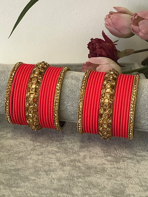 Ruby Red - KASHISH BANGLE SET