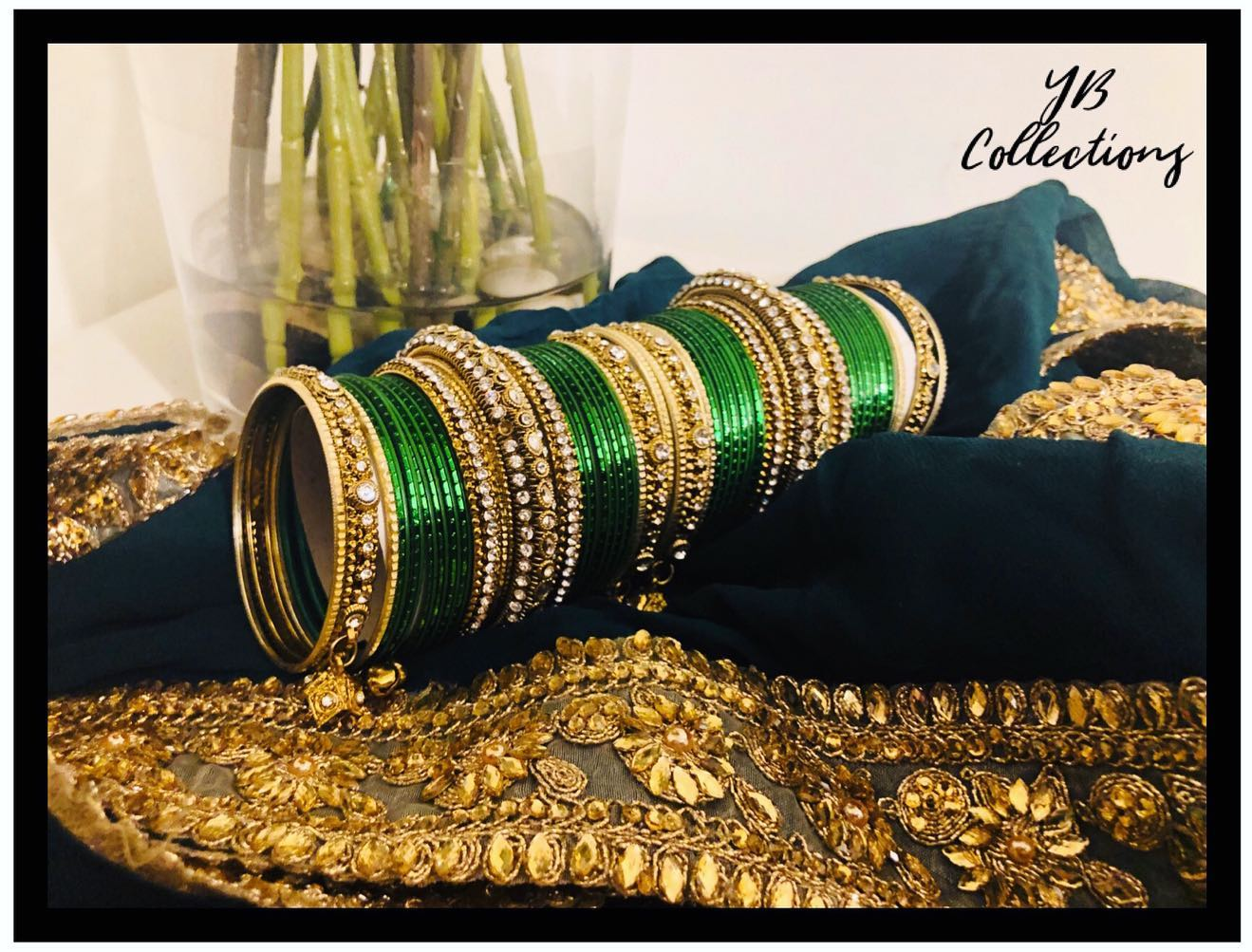 YB Emerald Green Bangle Set