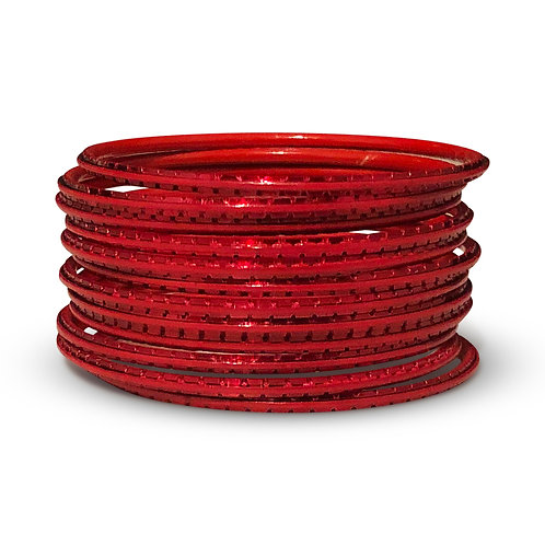 36 Red Indo-Western Bangles