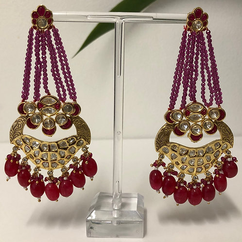 KARISHMA Ruby Kundan Earrings