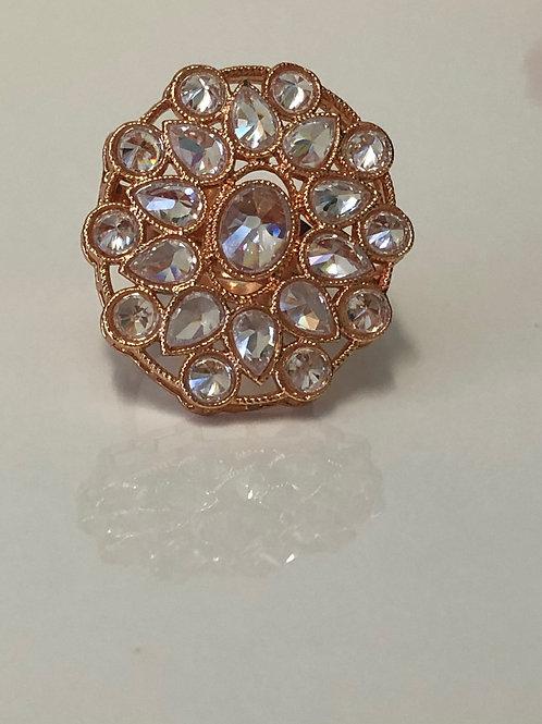 Rose Gold Statement Adjustable Ring