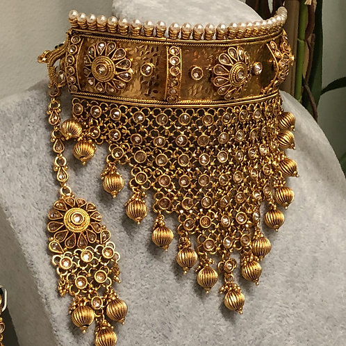 KHUSHI Gold Plated Bridal Necklace Set