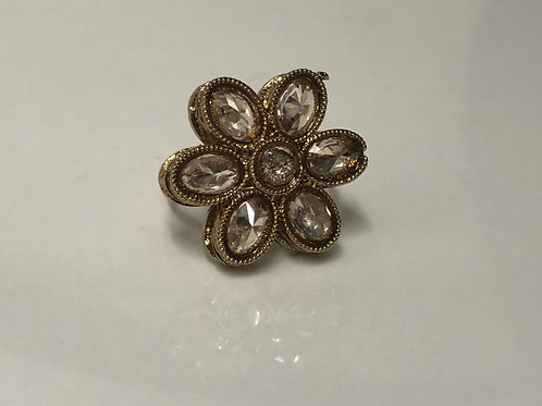 Mini Antique Gold Adjustable Ring