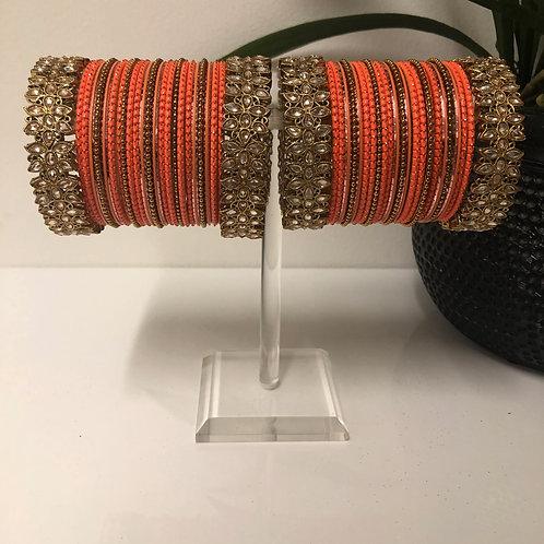 HEER Orange Bangle Set
