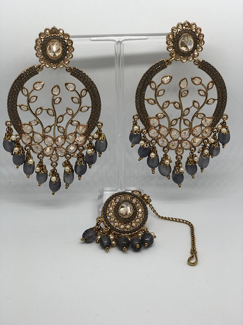 Earring & Maang Tikka Set