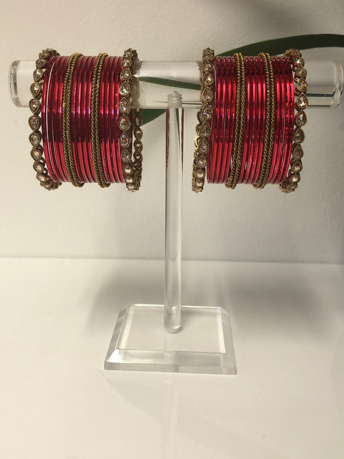ANJALI Red Bangle Set