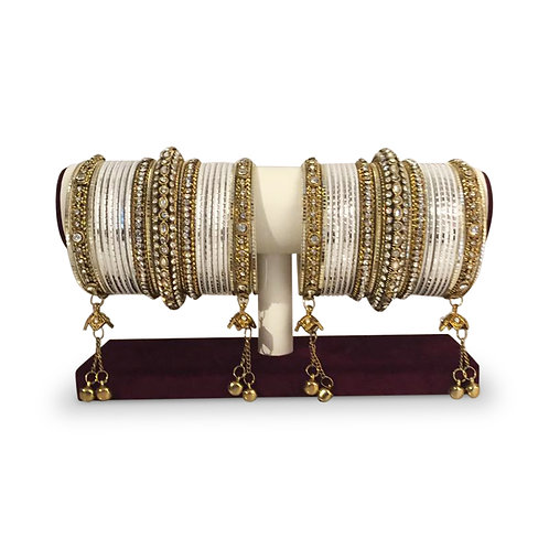 Pearl White Exclusive Bangles (Full Set)