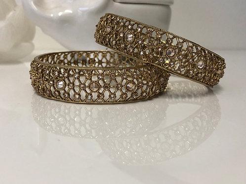 Antique Gold Kangans - Set of 2