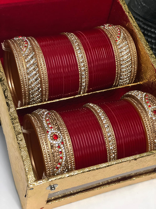 TRADITIONAL SIA BRIDAL CHOORA BANGLE SET