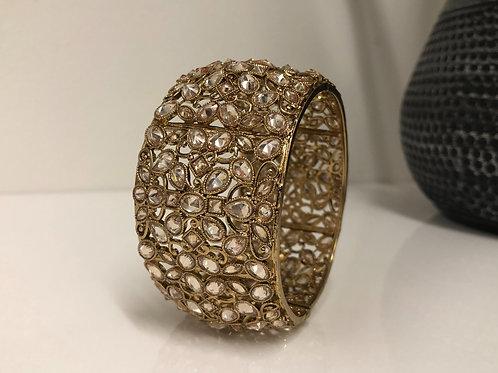 TANISHQ Antique Gold Kangan - (1 Kangan)