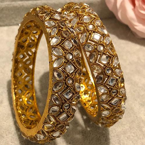 SAKSHI Antique gold Kangans - Pair of 2