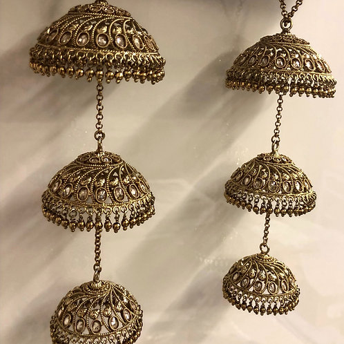 ANTIQUE GOLD POLKI KALIRE
