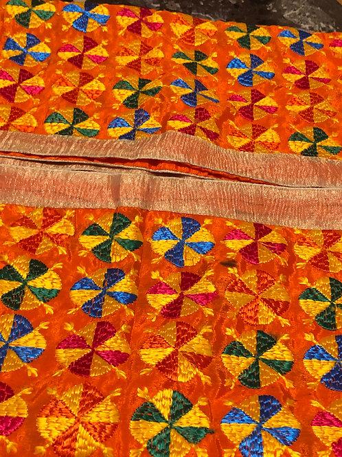 Limited Edition Orange Phulkari Dupatta