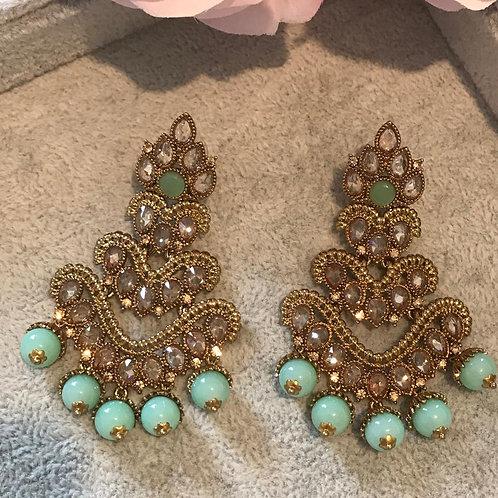 ARIA Mint/Golden Earrings