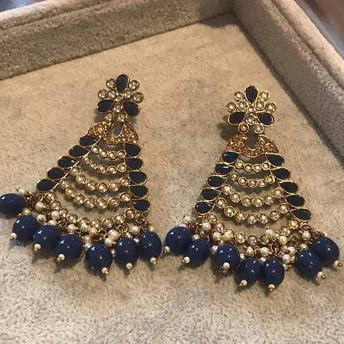 SHIKA Navy Earrings
